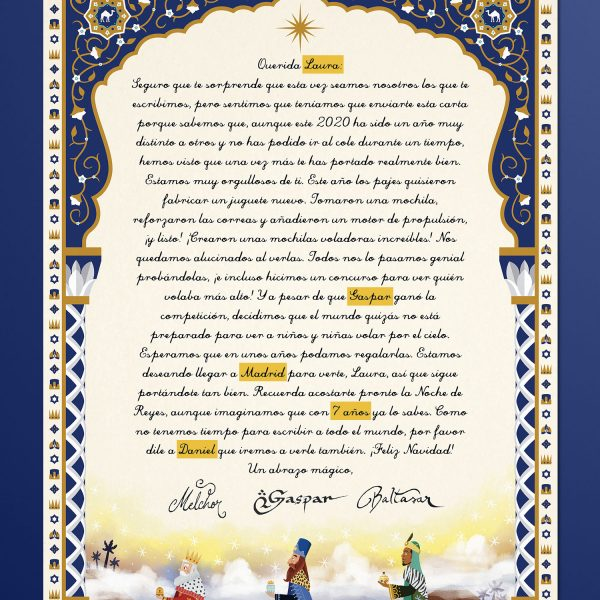 Carta de los Reyes Magos Personalizada
