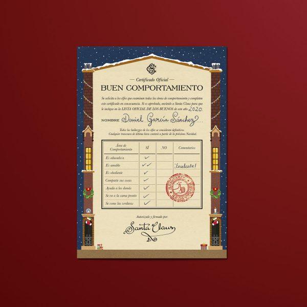 Certificado de Buen Comportamiento Papá Noel
